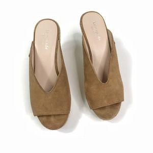 Kate Spade Thea wedge sandal tan sz 6